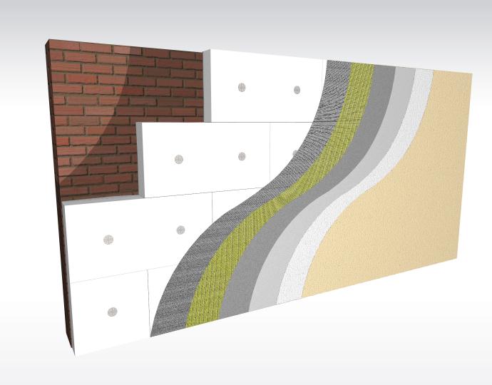 System ociepleń ze styropianem z dodatkiem grafitu